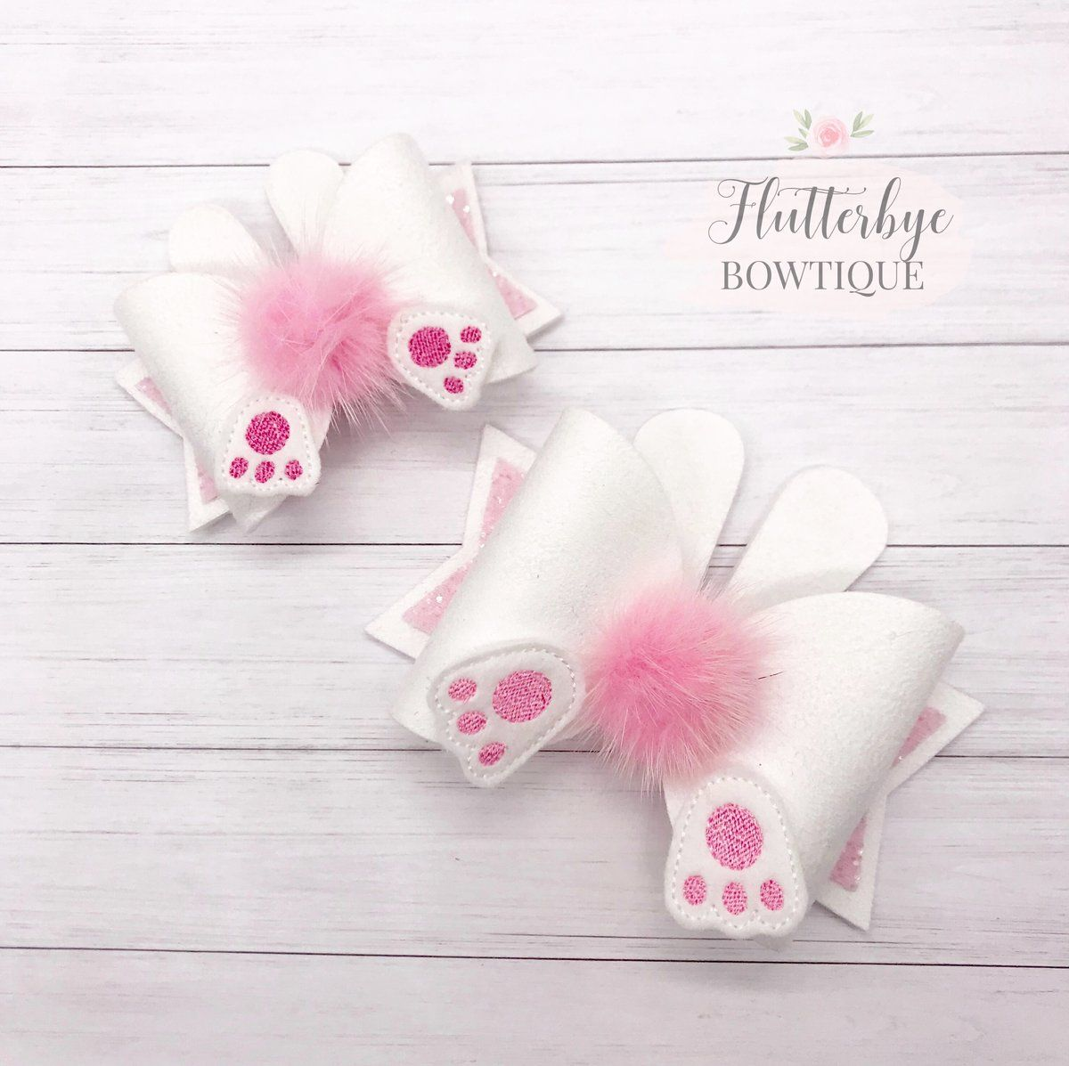 Cute Bunny Tail Bow #hairbows