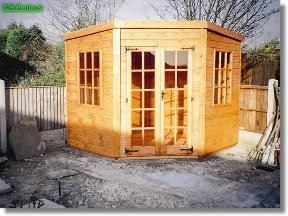 6x6 summerhouses silverwood corner shed total cost includes delivery and erection - Corner Garden Sheds 7x7