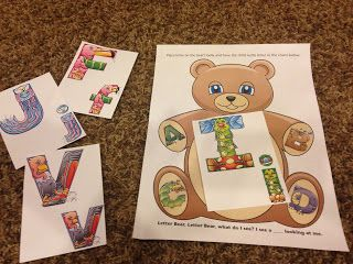 Brown Bear in preschool!  Amazing Action Alphabet has fantastic letter and sound review ideas using their muli sensory teaching method.  See Hear Do Company products are fantastic for Stay at Home Moms (SAHM) or preschool teachers wanting to teach children the easy way! letter | sounds | teaching | preschooler | books | review games | activities #amazingactionalpabet #teachkids #review