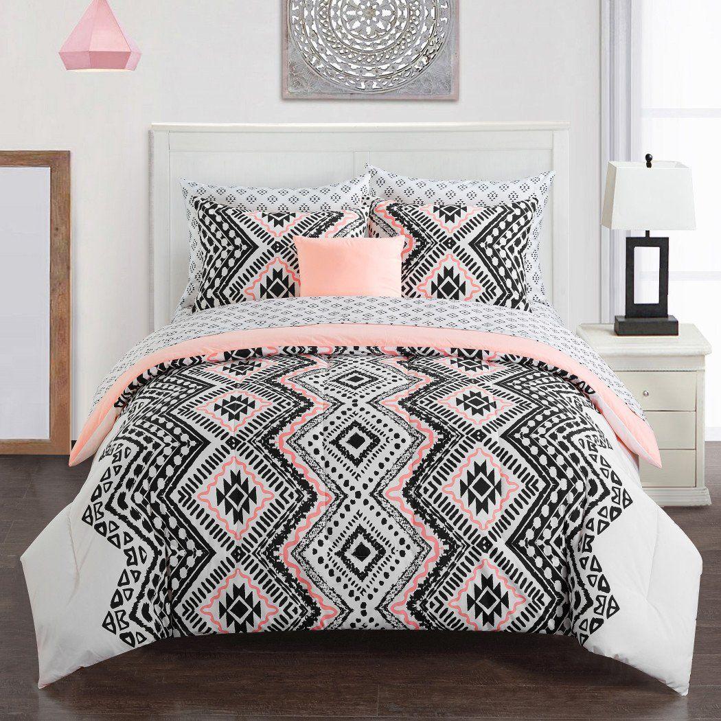 Girls Aztec Comforter Set Tribal Southwest Bedding Girly Trendy