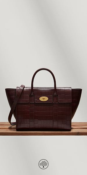d7865b0939a1 Shop the Bayswater with Strap in Oxblood Croc Print Leather at Mulberry.com.  The Bayswater is Mulberry s most iconic leather bag.