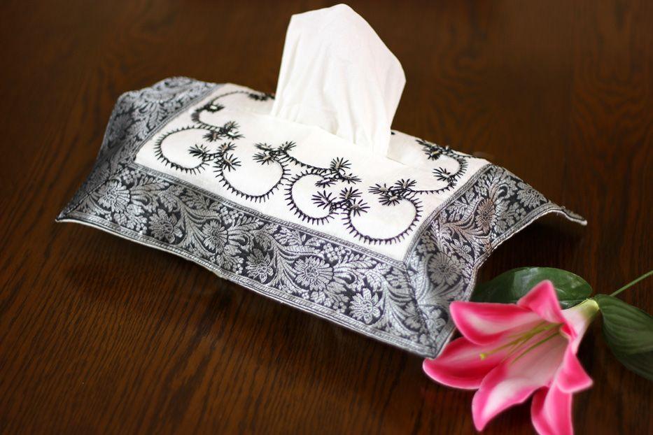 Decorative Tissue Box Cover Hand Embroidered Decorative Tissue Box Cover  Home Decor