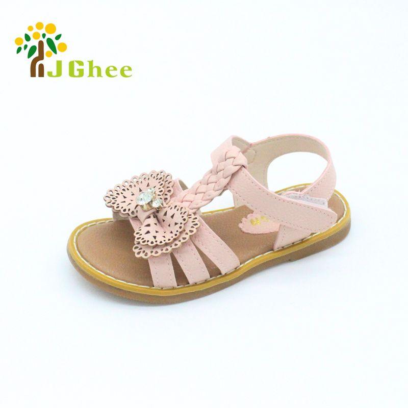 Cute Bowties Children Girls Sandals Anti-slip Youth Students Princess Sandals