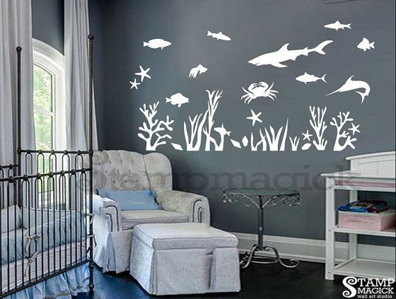 Under The Sea Wall Decal Fish Ocean By Stampmagick