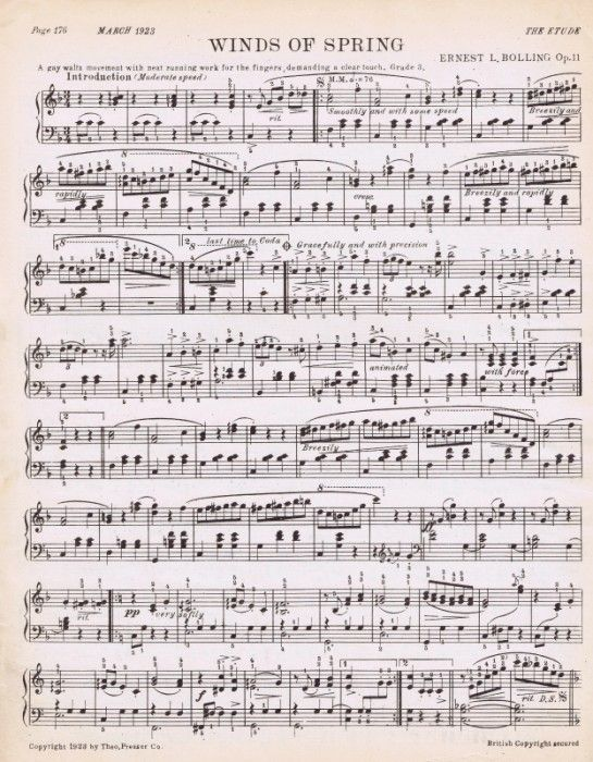 Spring Sheet Music Printable With Images Sheet Music Music