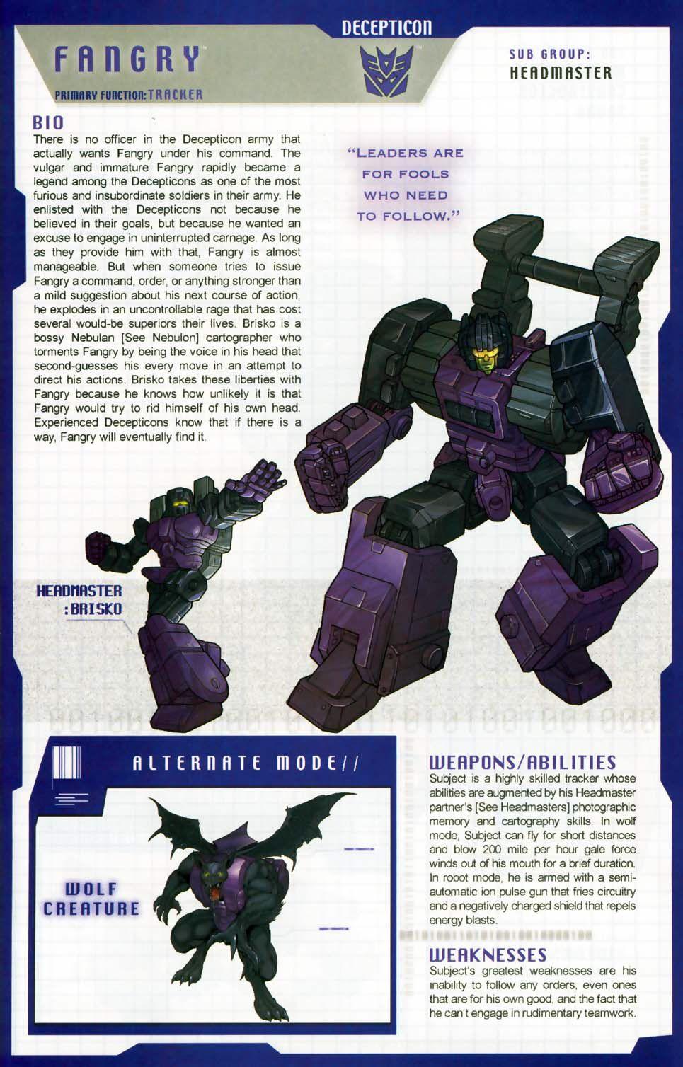 Transformers: Decepticon - Headmaster - Fangry w/ Brisco