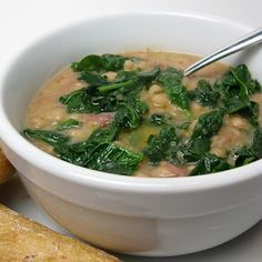 Vegetarian Crockpot Meals: Crock Pot White Bean and Spinach Soup. | best stuff