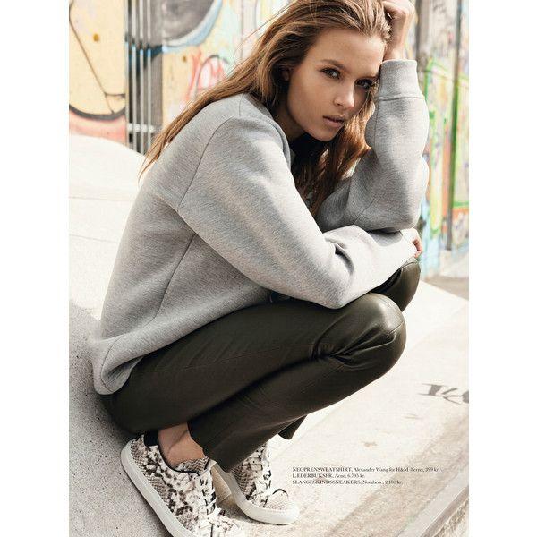 Josephine Skriver by Sean Mcmenomy for Elle Denmark November 2014... ❤ liked on Polyvore featuring josephine skriver