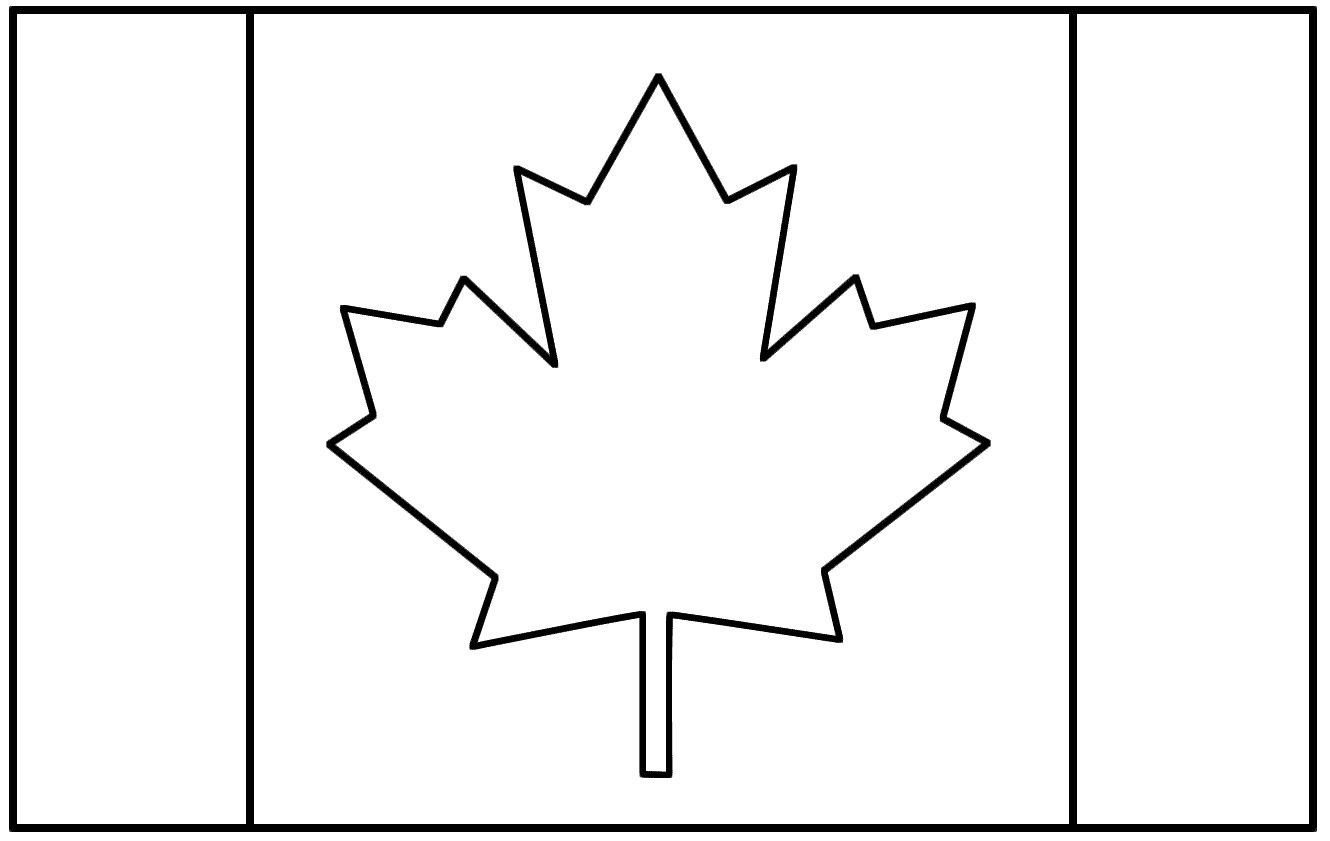 Colouring Pages Canada Flag Coloring Flags Cakepins