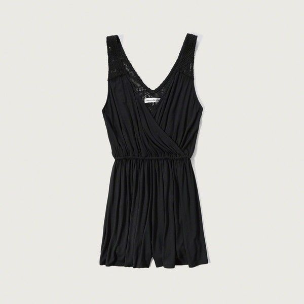 Abercrombie Fitch Lace Wrap Front Romper 48 Liked On