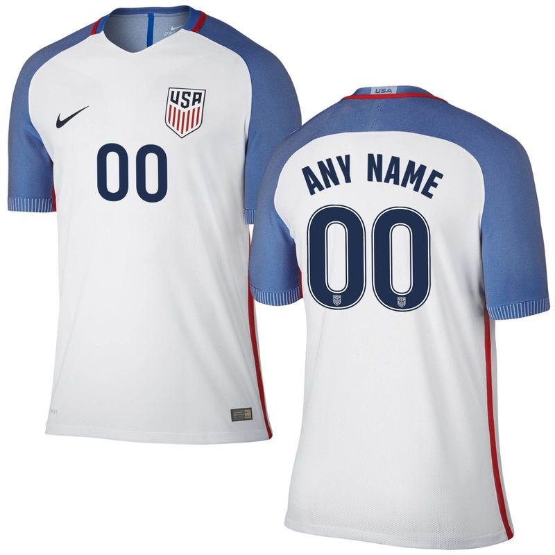 e3caf6d59 Us Soccer Nike Home Authentic Vapor Match Custom Jersey White