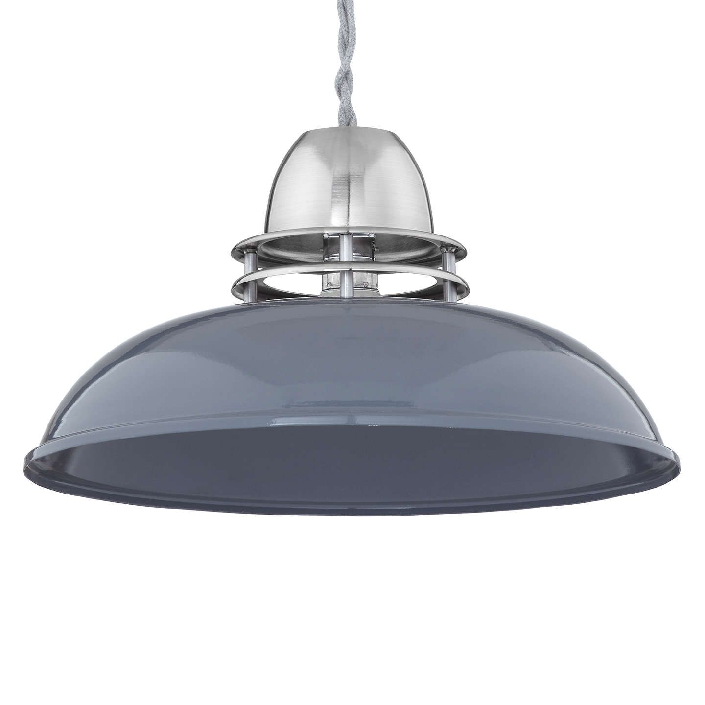 john lewis carmine easy to fit ceiling shade pewter grey john
