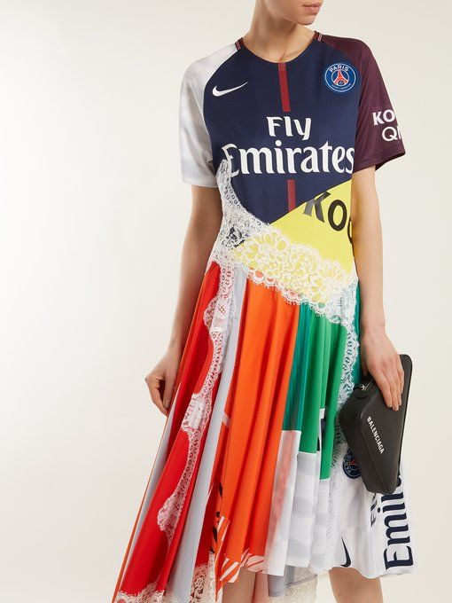 X Paris Saint-Germain patchwork dress Koch KP2Q30vMn4
