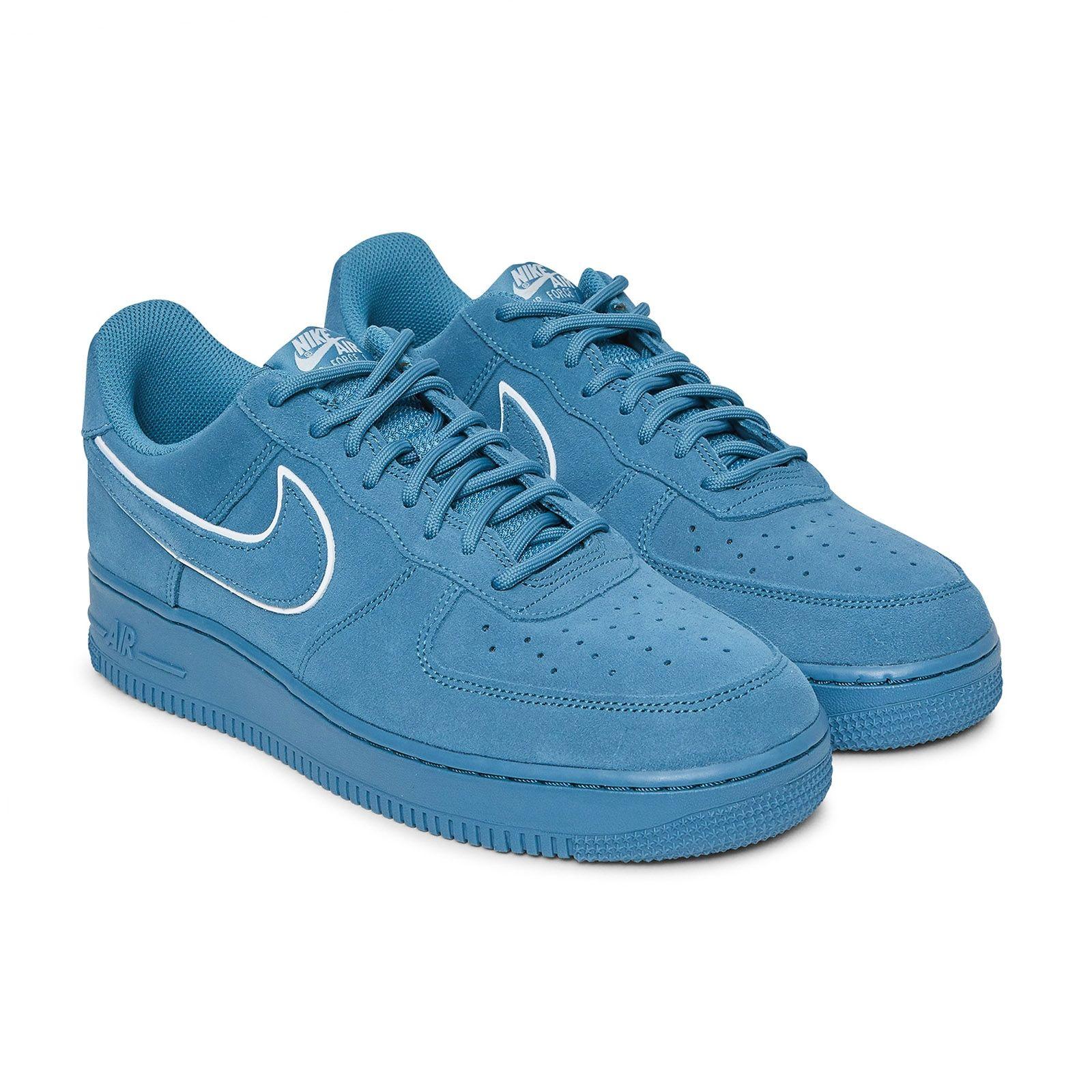 Nike Air Force 1 '07 LV8 Suede Shoe NOISE AQUABLUE FORCE