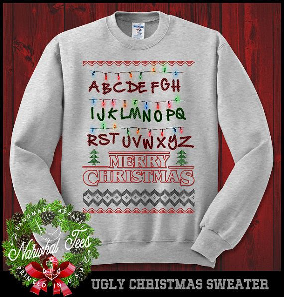 Stranger Things Merry Christmas Crewneck Sweater Funny Ugly ...