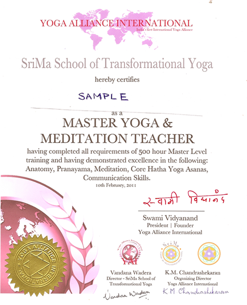 Yoga Teacher Resume Yoga Teacher Training Certificate Learn About Yoga Today And