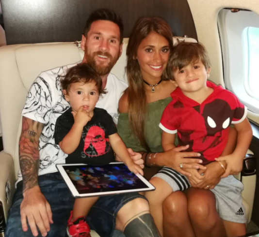 7554ba62c News  See Cute Family photo Of Football legend Leo Messi with his wife and  two sons