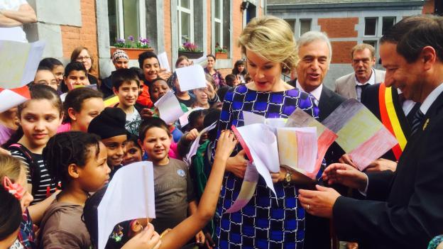 La reina Mathilde visita un proyecto social en Lieja - 16/9/2014