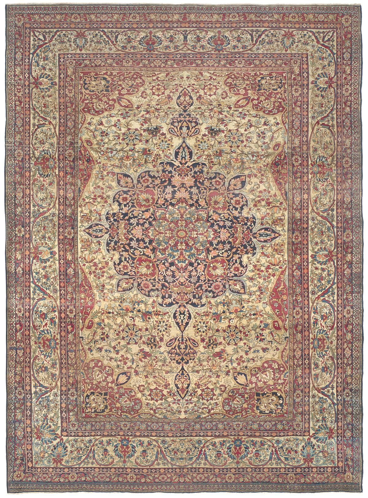 Effusive Floral Patterning And A Wide Ranging Naturally Dyed Palette Creates An Infinitely Detailed Mosaic In This S Rugs On Carpet Antique Oriental Rugs Rugs