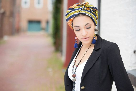 African head wraps for women Ankara head wraps by BabyOkraBoutique