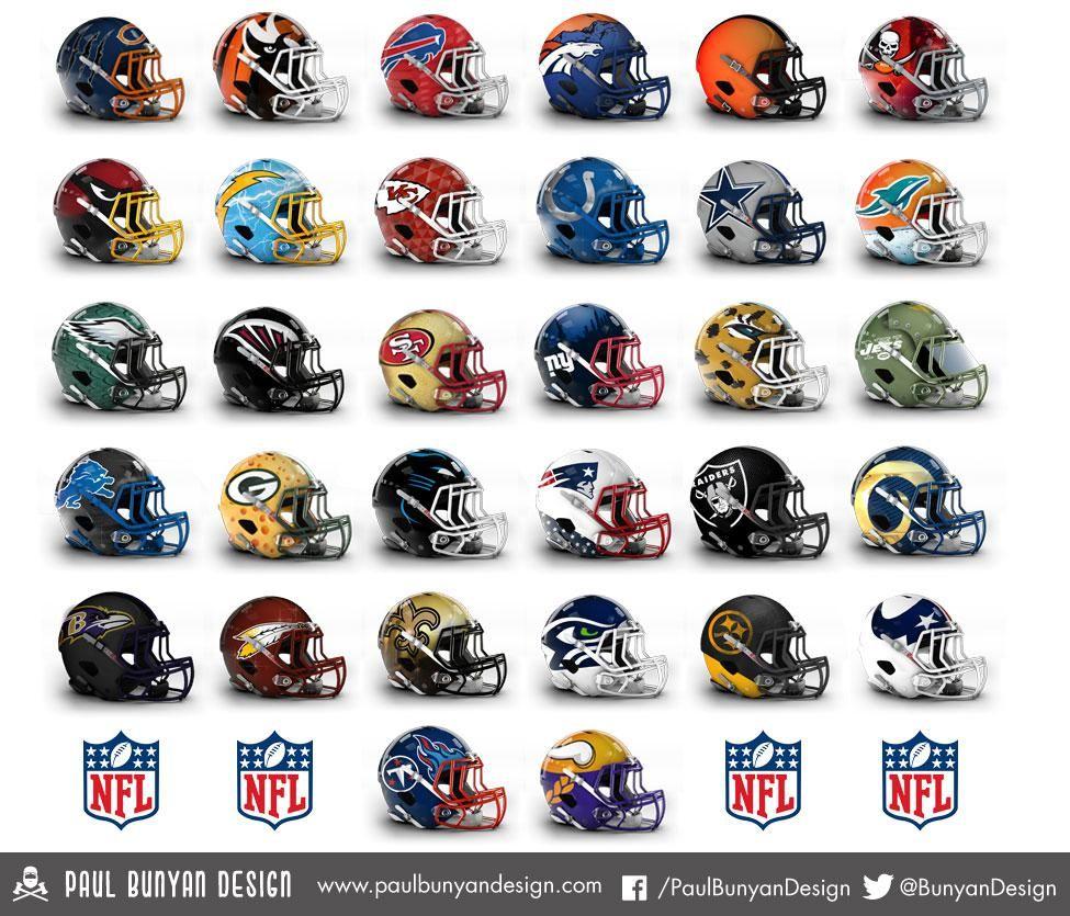 NFL concept helmets give teams a new look (33 HQ Photos ...