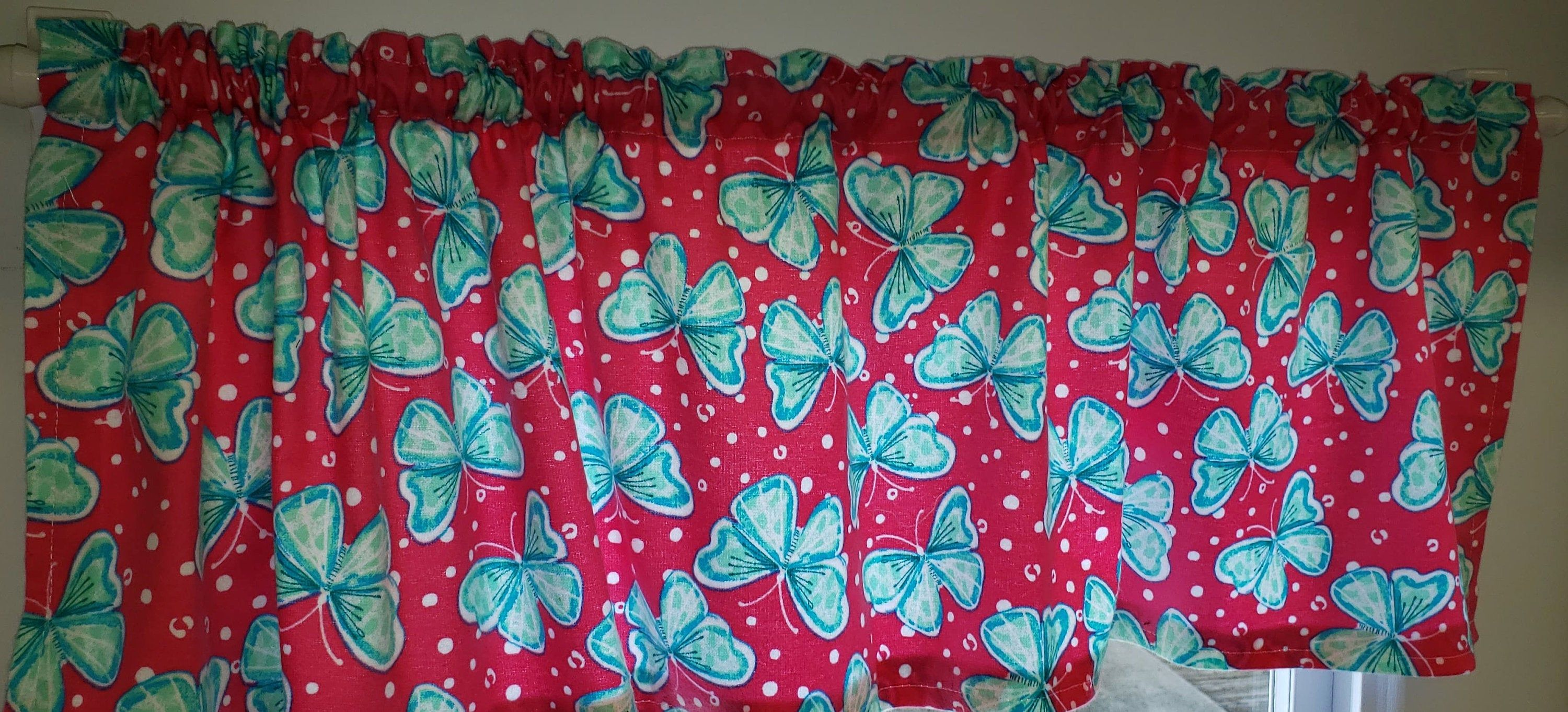 Teal Amp Pink Butterflies Curtains In 2020 Curtains Pink