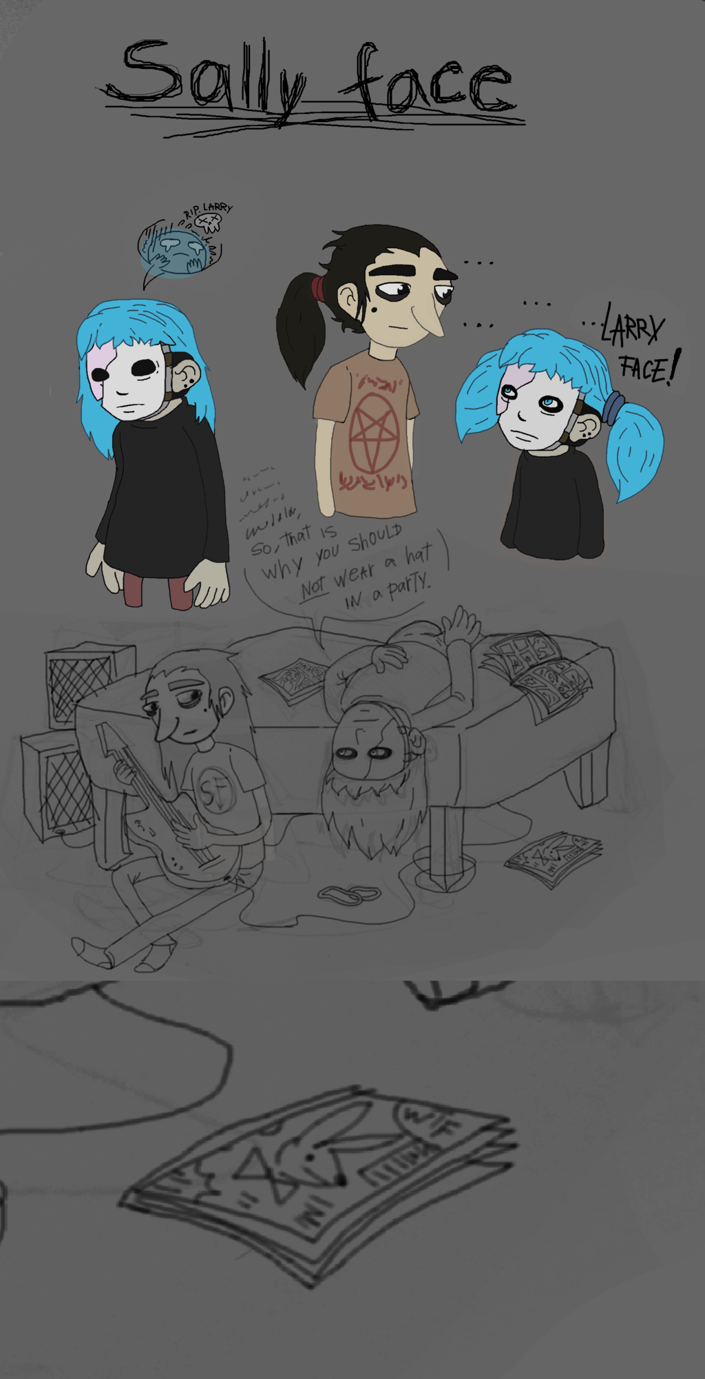 sally face larry fanart smut game deviantart chapter fan ships yaoi sketch don madness returns alice sallyface drawings tell them
