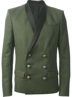 a58cc055584 BALMAIN contrast lapel blazer £2