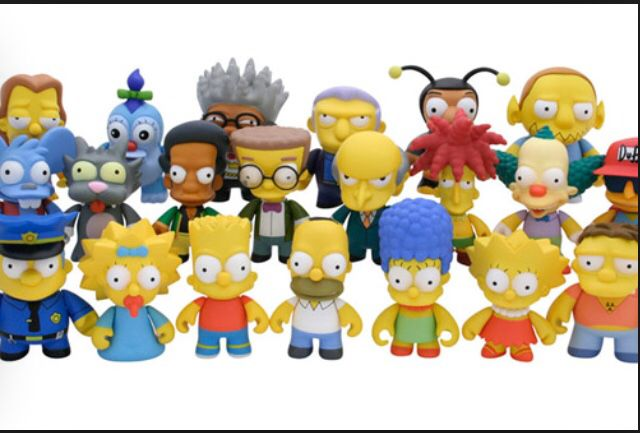 THE SIMPSON FAMILY Set Mini Figure da Collezione Bart Lisa Homer Marge ORIGINALE