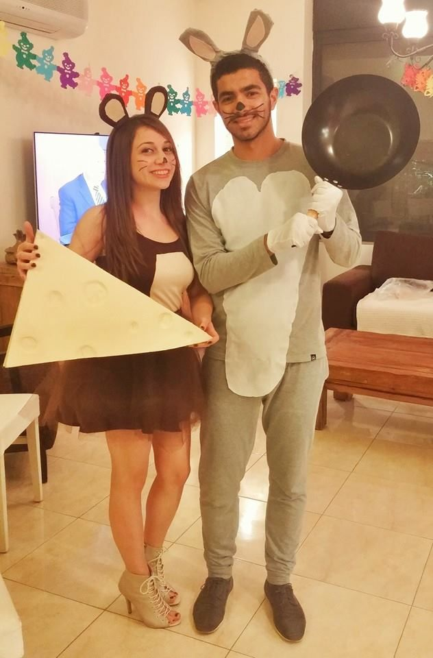 Tom and Jerry homemade couple costume Tom and Jerry homemade - halloween couples costumes ideas