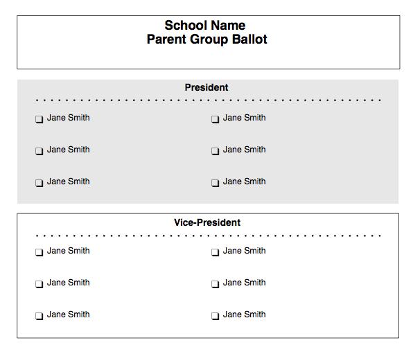 ballot templates word