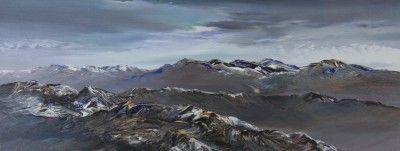 Peter GOODFELLOW-Winter Light Grey Corries