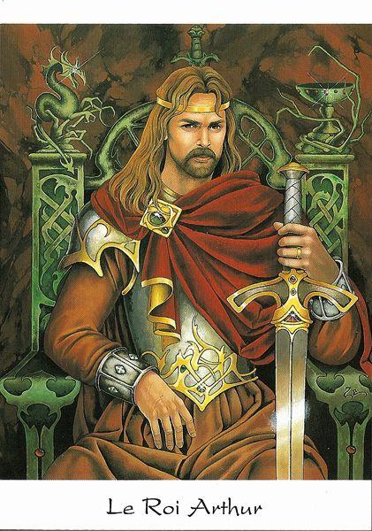 Carte postale le roi arthur broc liande pinterest - Contes et legendes des chevaliers de la table ronde resume ...