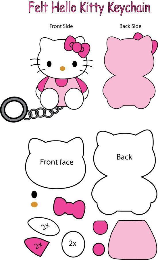 hello kitty felt pattern pannolenci Pinterest Hello kitty