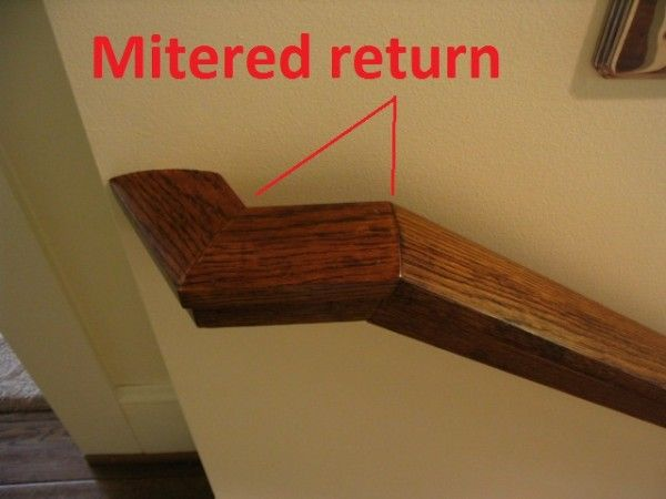 Mitered Return Staircase Makeover Mitered Home Projects
