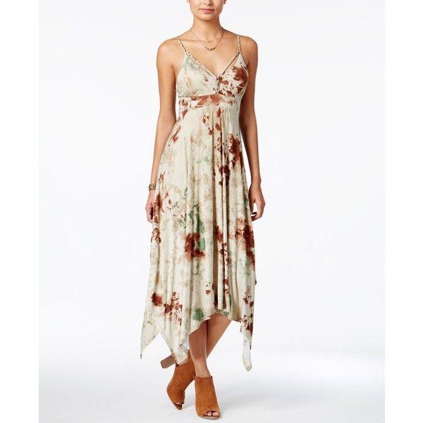 48695e8cc0062 American Rag Summer Nights Printed Handkerchief-Hem Dress