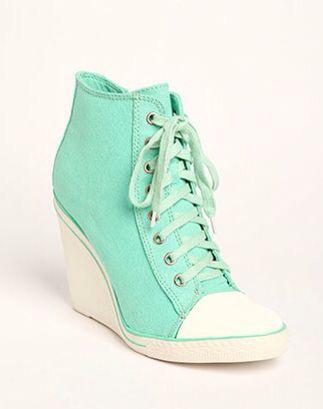 6a8effa2042a high heel Aqua green converse