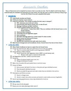 what to do when a loved one dies a checklist for survivors well