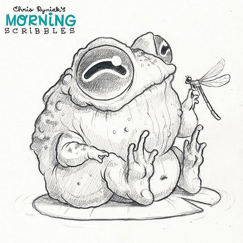 Unlikely pals 🐸🐝 #morningscribbles | Ranas, Dibujo y Sapito