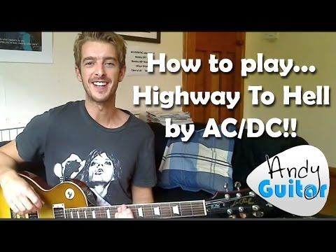 highway to hell ac dc easy beginner guitar riff easy chords how to play youtube guitars. Black Bedroom Furniture Sets. Home Design Ideas