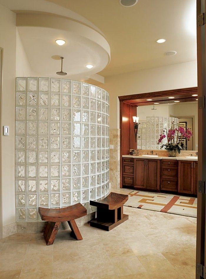 le pav de verre voir les meilleures id es pav de verre de la salle et s parer. Black Bedroom Furniture Sets. Home Design Ideas