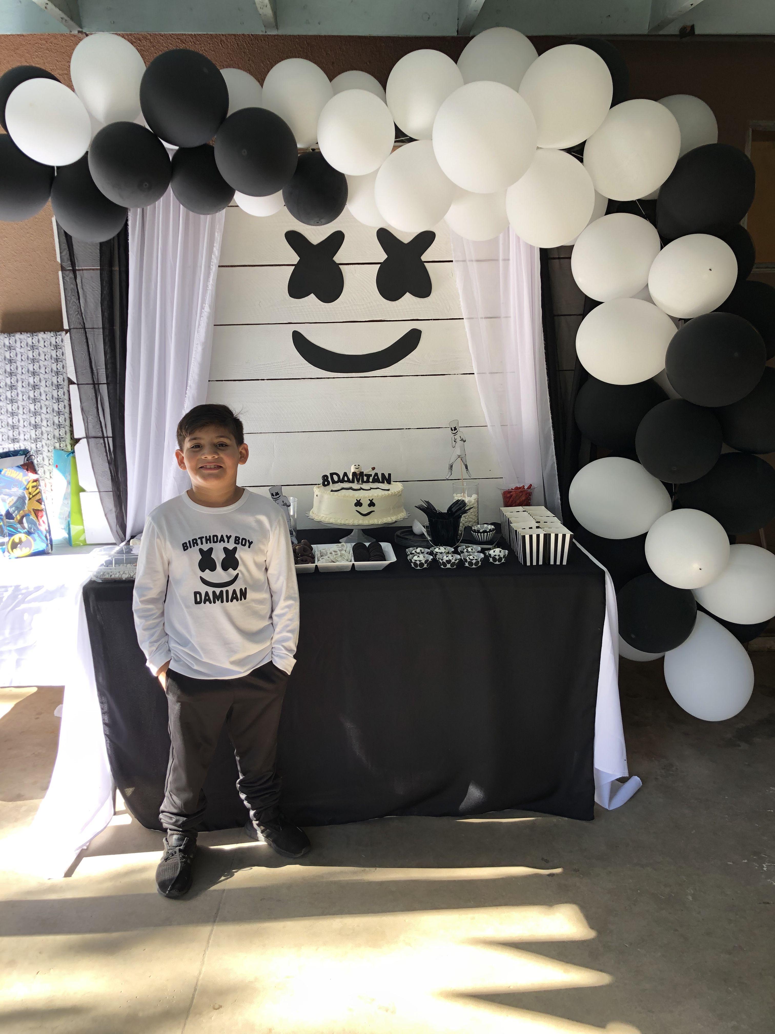 Marshmello Party Marshmello Party 7th Birthday Party For Boys Birthday Party For Teens
