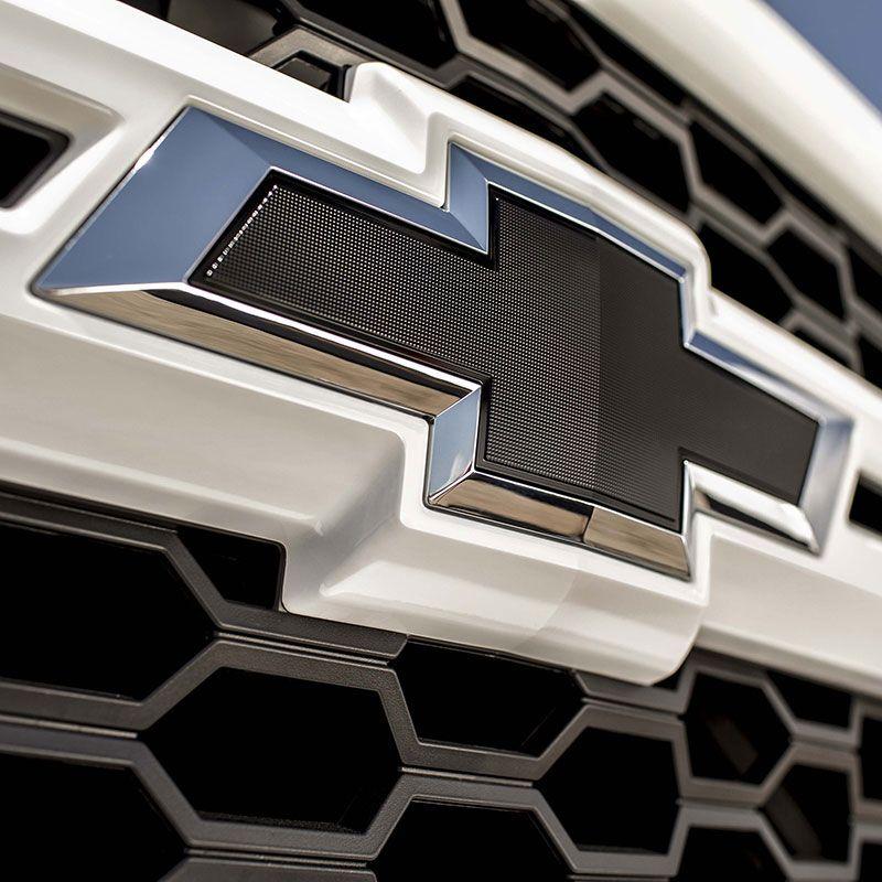 2x OEM White Z71 Emblems Chrome for GMC Chevy Silverado Sierra Tahoe Suburban 2e