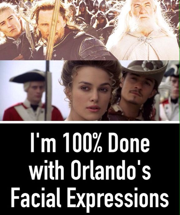 Photo of I was watching Pirates of the Caribbean when I noticed Orlando Bloom trolling ag…