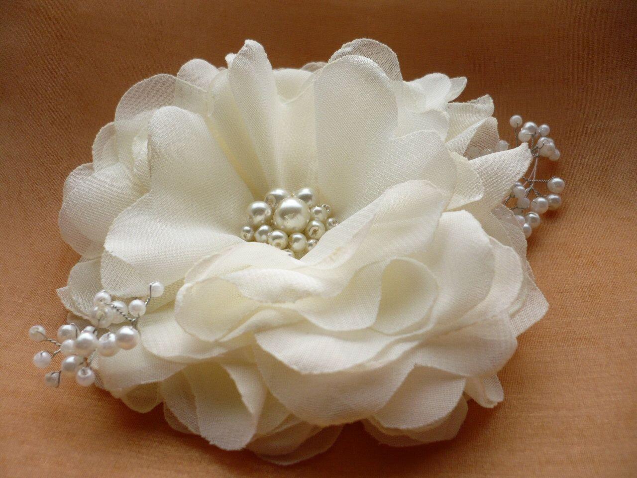 Ivorywhite Hair Clip Ivorywhite Hair Comb Flower Hair Clip Flower