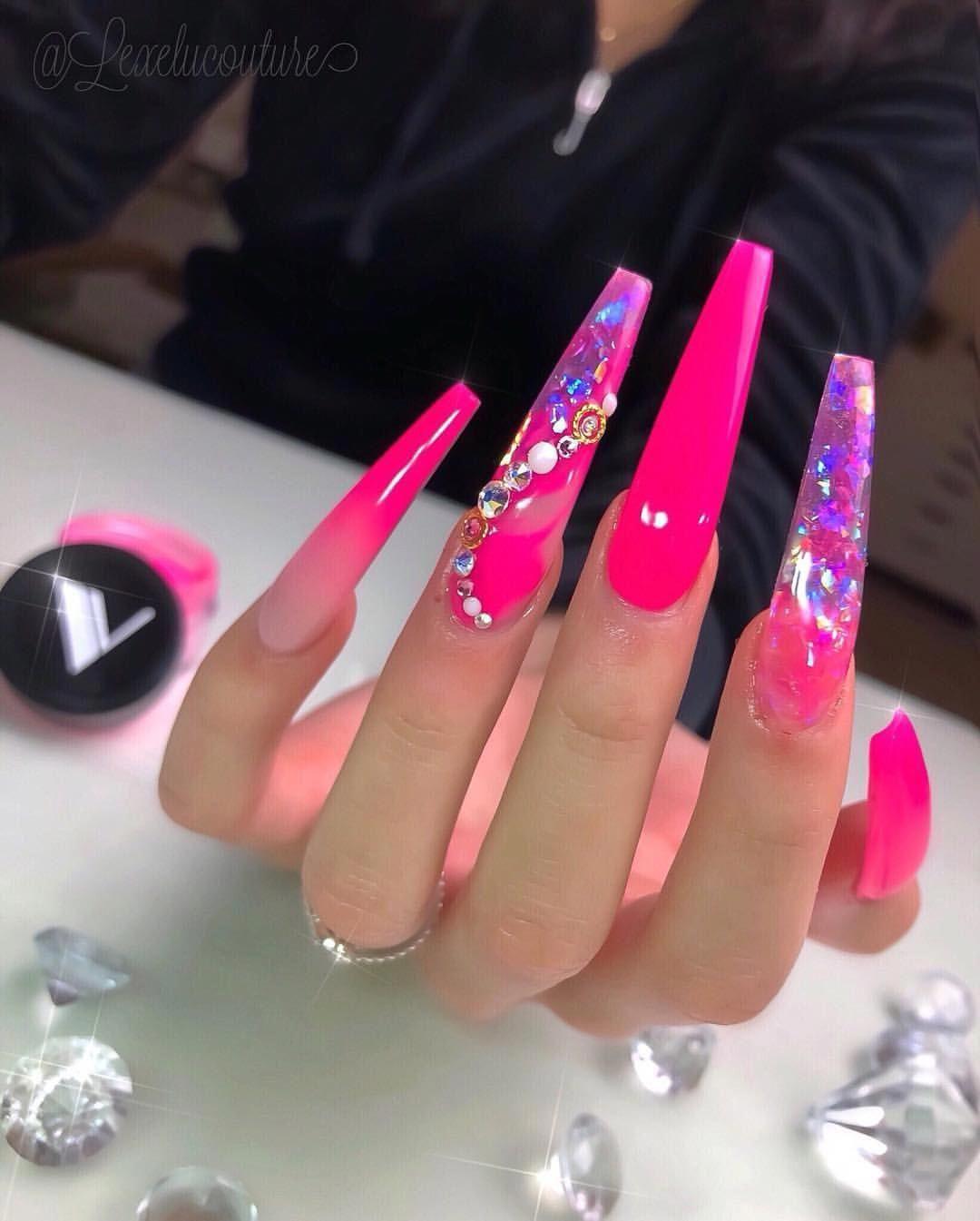 #frenchnails #beautiful #perfect #nails #swarovski #ombre