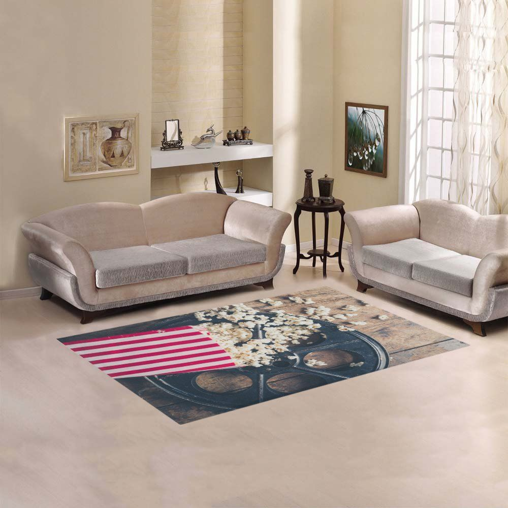 Your Fantasia Sweet Home Modern Stores Area Rug Carpet Cover Decoration Cinema Concept With Popcorn On Wooden Surface More Info Could Be Found At