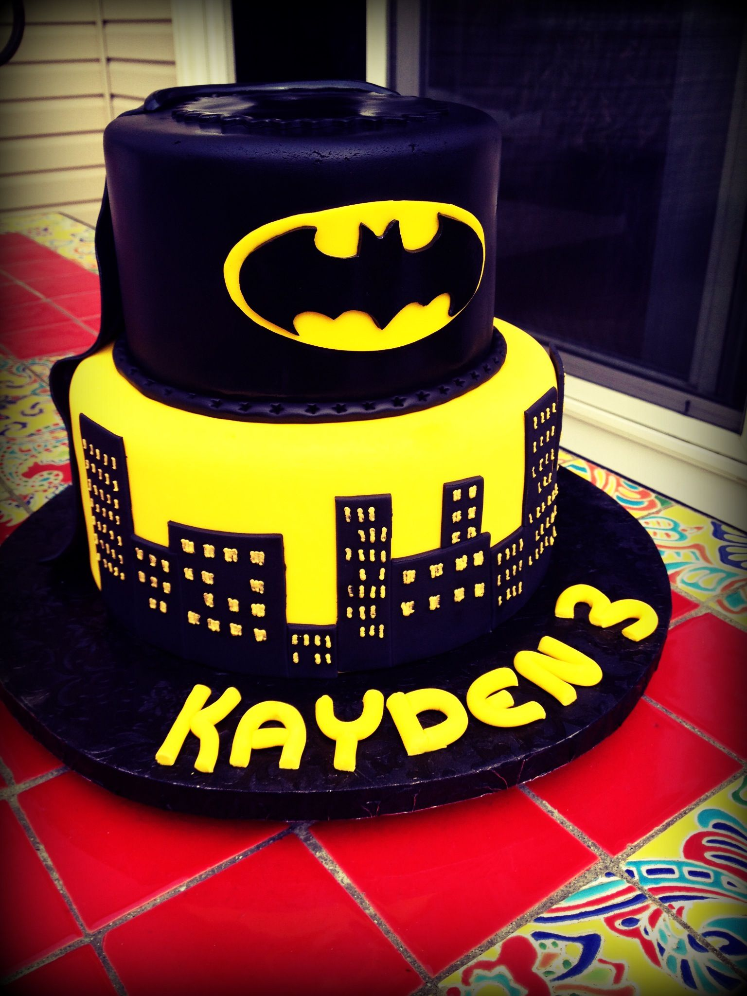 Batman Cake Loved It For Kayden Batman Cakes Batman