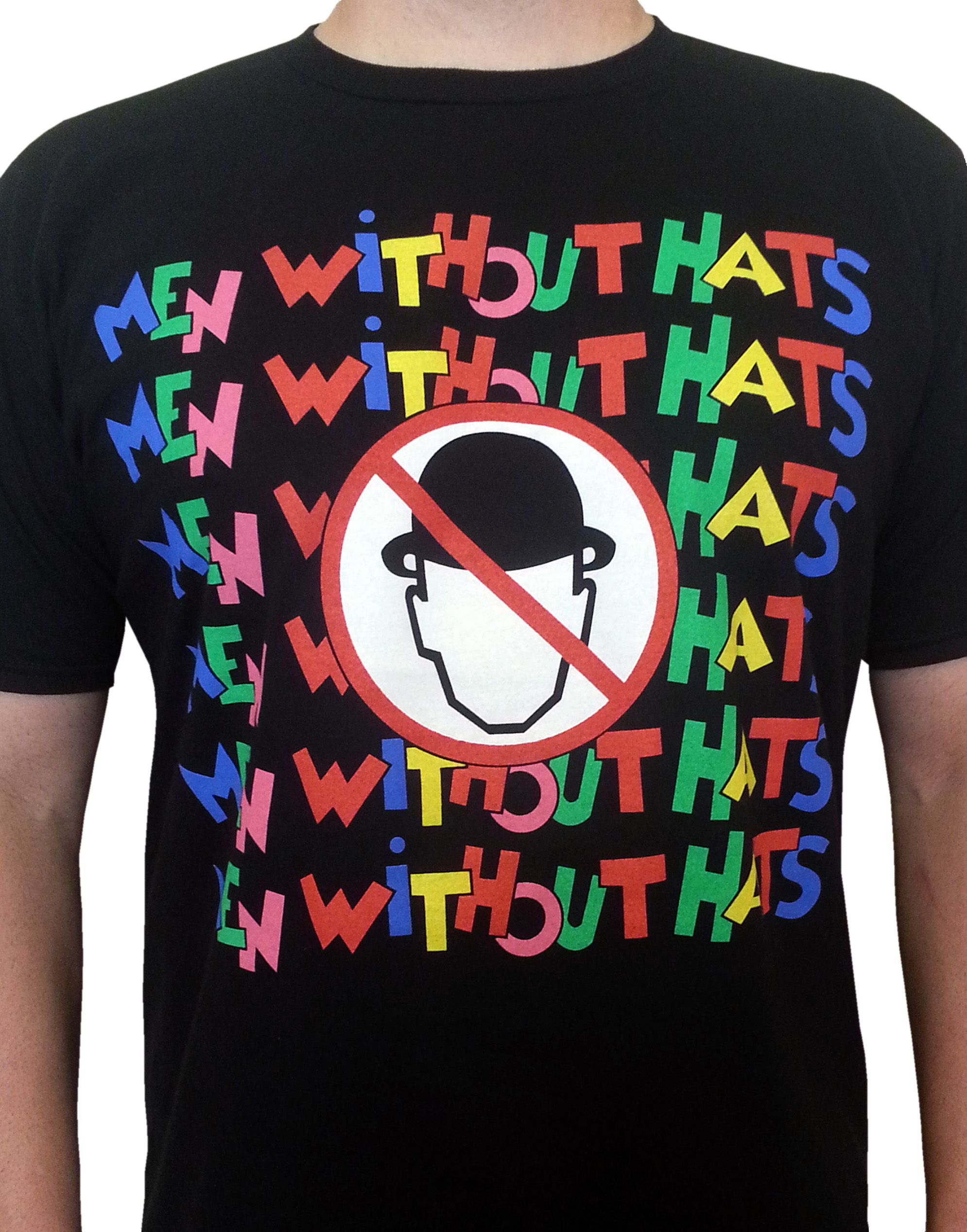 Black t shirt goes with - Men Without Hats Pop Goes The World Mens Black T Shirt
