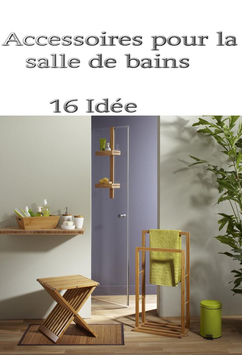 accessoire salle de bain : 17 accessoires bambou pas cher ...